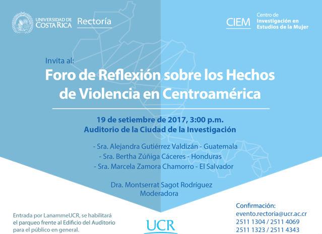 Foro de Reflexion sobre los Hechos de Violencia en Centroamerica