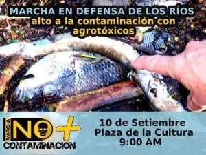Pescadores a la calle por contaminacion de rios