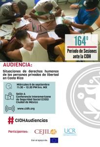 UCR lleva su voz a la CIDH en defensa de los privados de libertad AFICHE