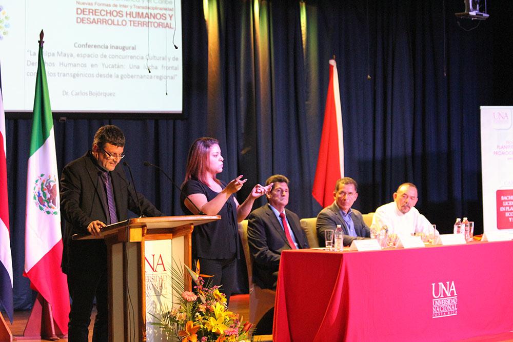UNA inauguracion IV Jornadas Internacionales trasdisciplinarias5