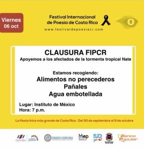 Clausura del Festival Internacional de Poesia de Costa Rica