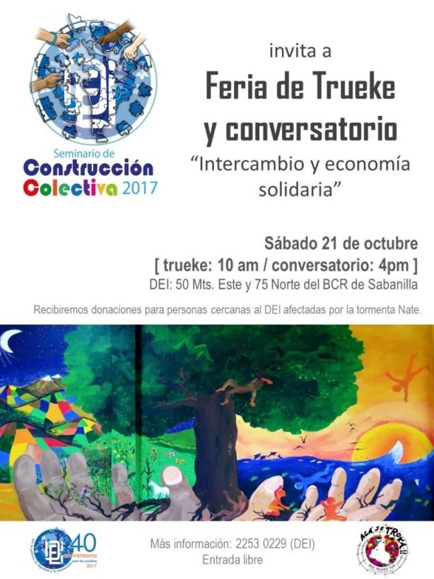 Feria de Trueke y Conversatorio Intercambio y economia solidaria