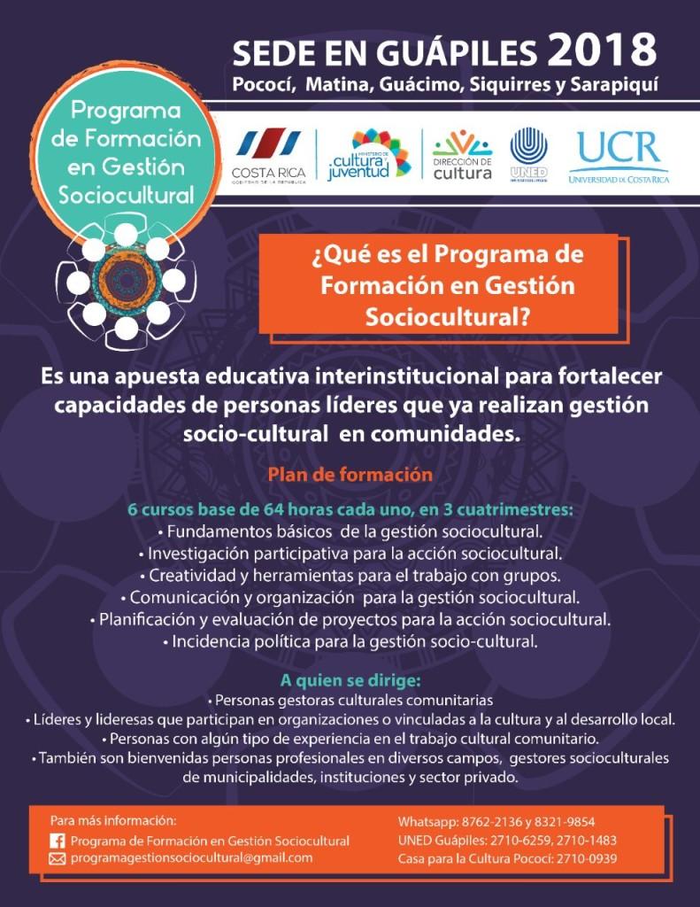 Programa de Formacion en Gestion Sociocultural