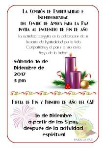 Encuentro espiritual y fiesta de fin y principio de ano del CAP