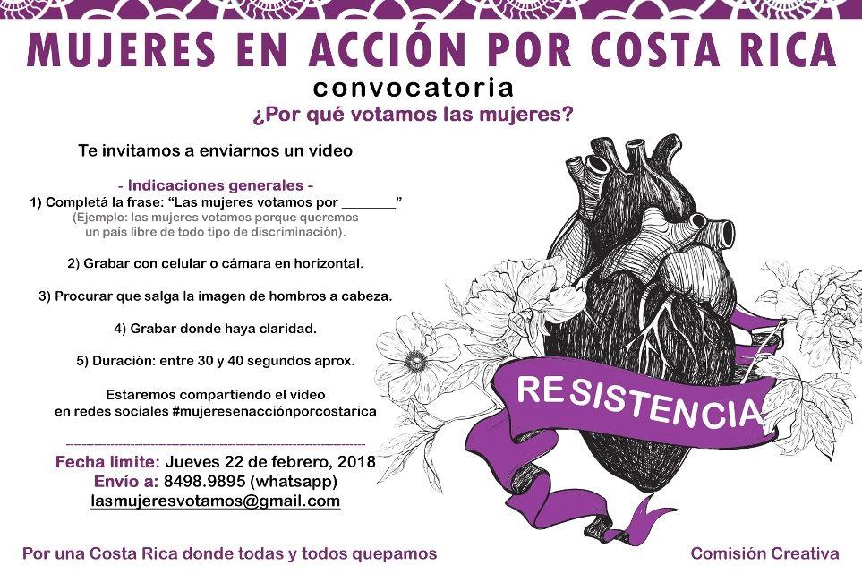 Mujeres en accion por Costa Rica
