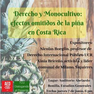 Derecho y monocultivo efectos omitidos de la pina en Costa Rica