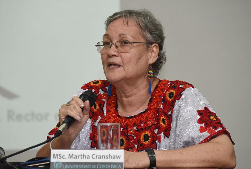 """Martha Cranshaw afirmó que """"no era posible quedarnos callados"""" ante la actual situación de violencia el vecino país centroamericano. - Laura Rodríguez Rodríguez"""