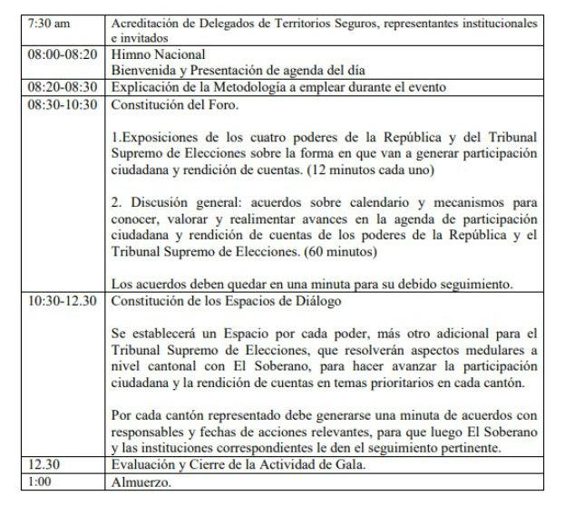 METODOLOGIA Y AGENDA PARA LA XVII ACTIVIDAD DE GALA DE RENDICION DE CUENTAS