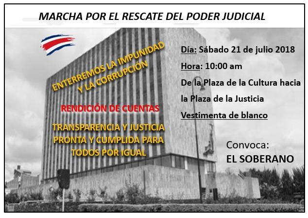 Marcha por el rescate del Poder Judicial
