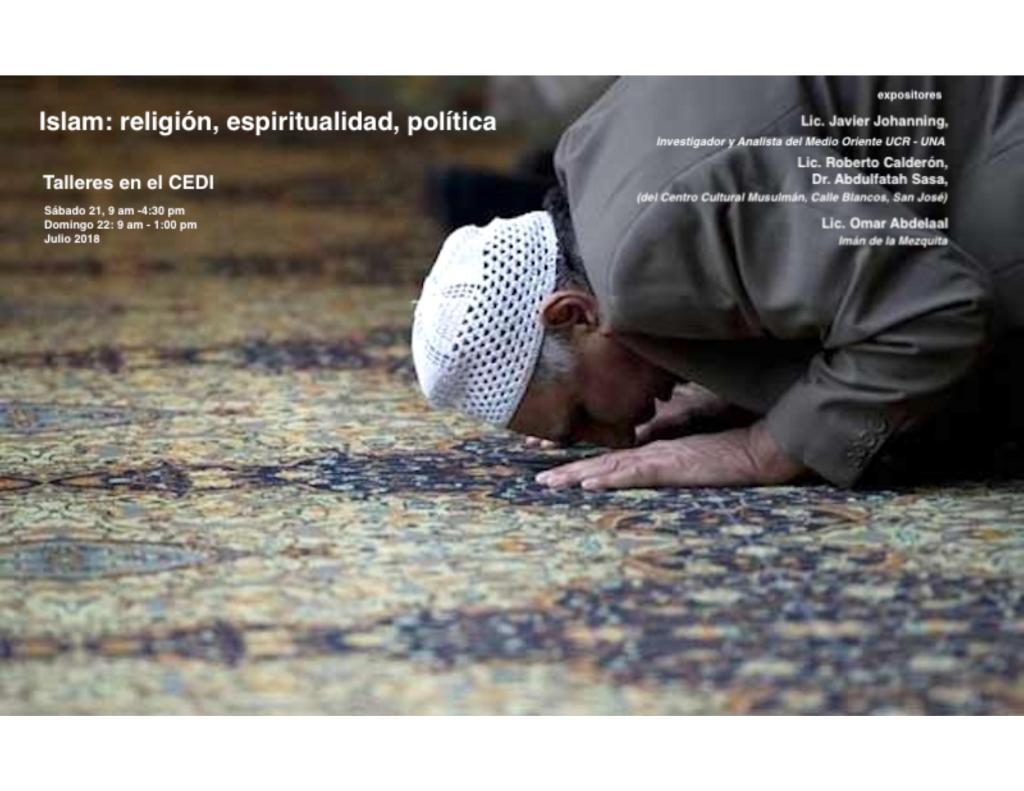 Talleres CEDI sobre religion politica y espiritualidad afiche