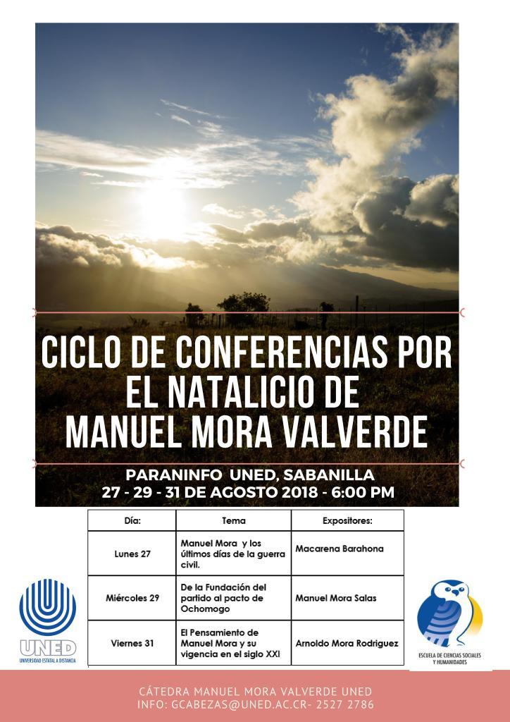 Ciclo de Conferencias por el Natalicio de Manuel Mora Valverde