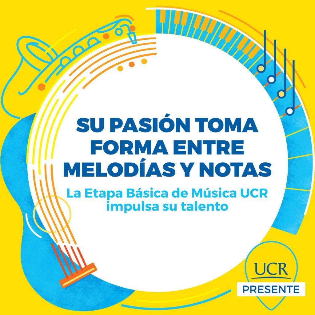 Su pasión toma forma entre melodías y notas. La Etapa Básica de Música de la UCR impulsa su talento. Crédito: Ibux Sánchez Villalobos.