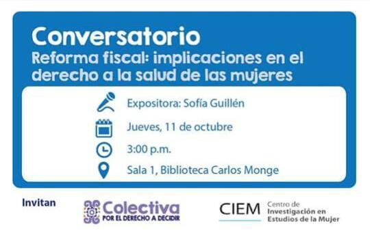 Conversatorio Reforma fiscal Implicaciones en el derecho a la salud de las mujeres