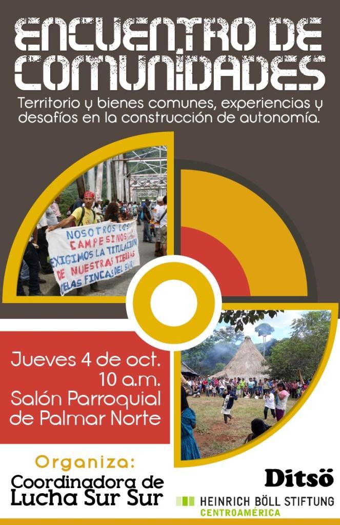 Encuentro de comunidades Territorio y bienes comunes