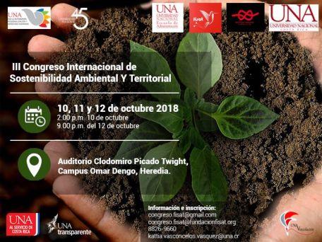 UNA III Congreso de Sostenibilidad Ambiental y Territorial