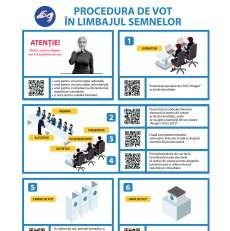 Procedura de vot la Alegerile Parlamentare din 24 februarie 2019 (în limbajul semnelor)
