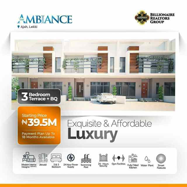 the ambiance: 3 bedroom terrace