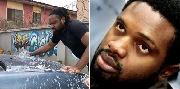 Cobhams Asuquo Shares Video Of Him Washing A Car, Inspired Fans React