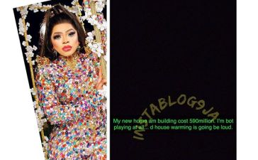 "Bobrisky Says ""His New Building Cost N590 Million"" Photos"