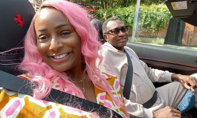 Days After Shutting The Internet, DJ Cuppy Carry Her First Ferrari Passenger