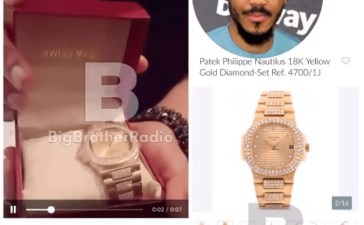 Fans Gifted Ozo N8 Million Patek Wrist Watch (Video & Photo)