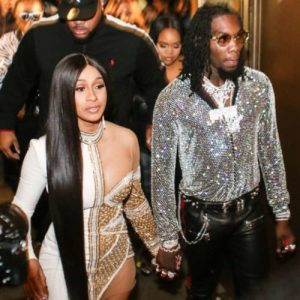 Cardi B Kisses Estranged Husband, Offset After He Gifted Her A Rolls Royce For Her 28th Birthday