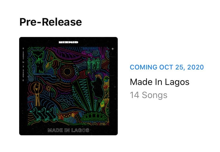 Check New Release Date For Wizkid's 'Made In Lagos'