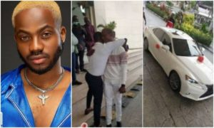 Korede Bello surprises his manager with a brand new car on his birthday