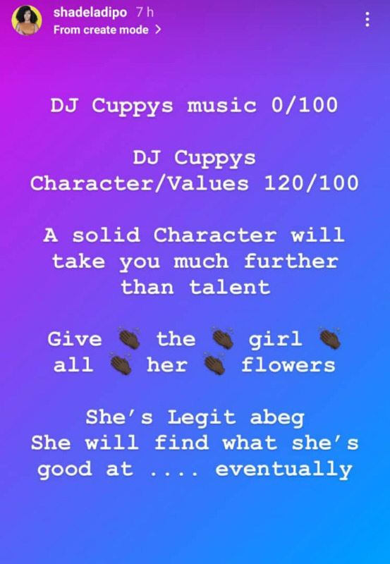 """""""DJ Cuppy's Music is 0/100…"""" – Media Personality, Shade Ladipo Grades Cuppy"""