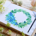 How To Paint Step By Step Floral Watercolor Wreath Surely Simple