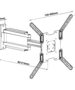 "32""-50"" Cantilever Bracket (400x400 VESA) (SCL02L) 5"