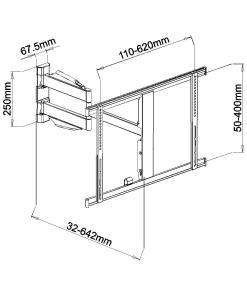 """40""""-65"""" Slimline Cantilever TV Bracket (SCLSS03) 7"""