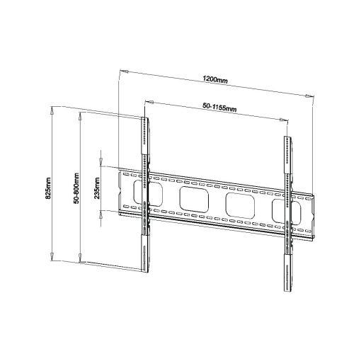 "65""-95"" Slimline Flat To Wall TV Bracket (SFSS05) 2"