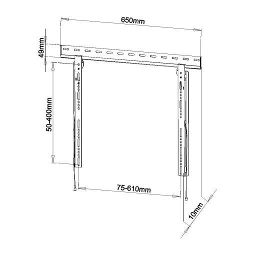 Super Slimline TV Wall Mount SL1 Measurements