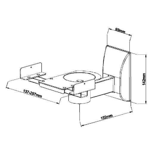 Side Clamping Speaker Wall Mounts White (SSWB201W) 2