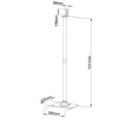 SONOS ONE Speaker Floor Stand - Black (SSFLONEB) 5