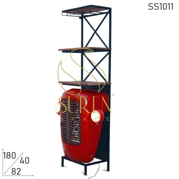 SS1011 Suren Space Tractor Design Automotive Wine Cabinet Display Unit