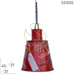 SS1032 Suren Space Old Metal Polish Box Recycled Hanging Lamp