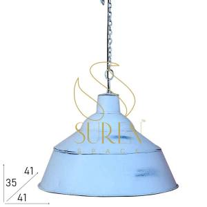 SS1036 Suren Space White Distress Metal Pendant Lighting for Commercial Places