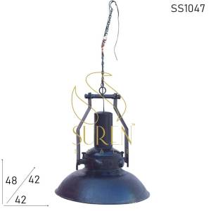 SS1047 Suren Space Black Finish Steel Hanging Lamp Design