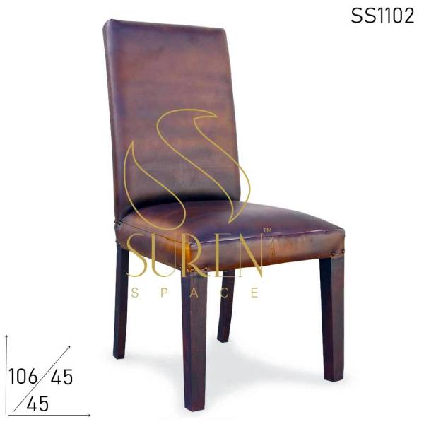 SS1102 Suren Space Genuine Leather Upholstered Fine Dine Chair