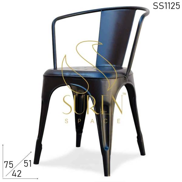 SS1125 Suren Space Industrial Metal Modern Stackable Canteen Food Court Chair