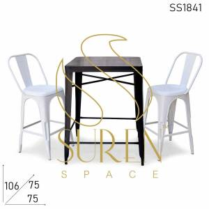 SS1841 Suren Space Iron Powder Coated Outdoor Bar Height Tischstühle Set