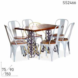 SS2466 Suren Space Eiffel Tower Inspire Metal Commercial Dining Set