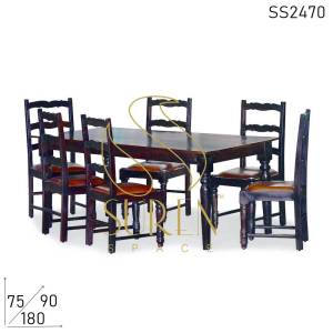 SS2470 Suren Space Solid Sheesham Madera tallada plegable fino Dine Dining Table Set