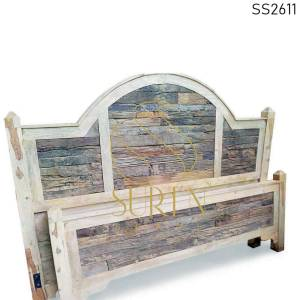 SS2611 Suren Space Solid Mango & Slipper Wood Natural Finish Hotel Resort Bed Design