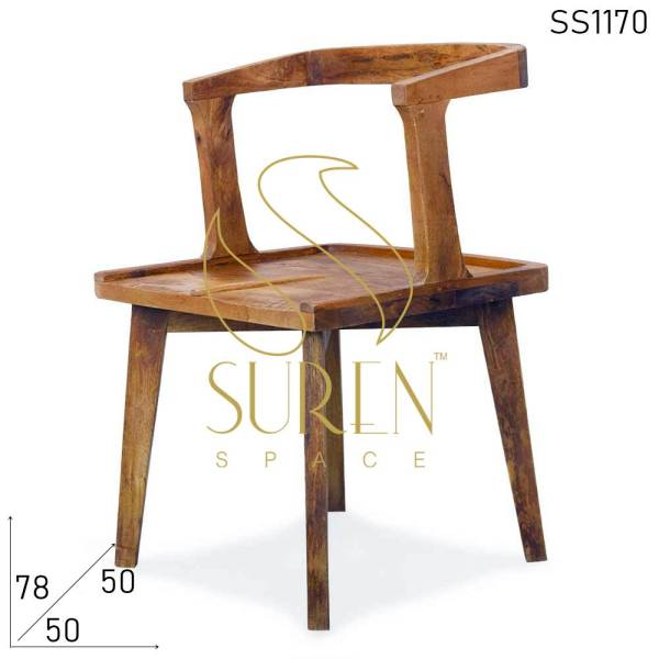 SS1170 Suren Space Solid Mango Wood Stylish Restaurant Chair