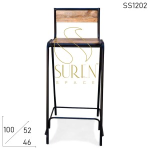 SS1202 Suren Space Compact Small Seating Bar Pub Counter Chair