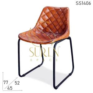 SS1406 Suren Space Designer Leather Metal Modern Chair Design