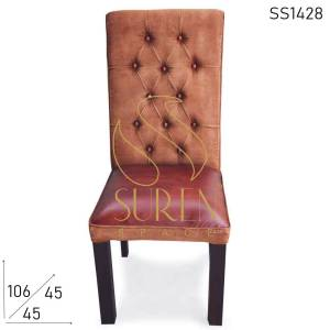 SS1428 Suren Space Duel Shade Canvas Leather Fine Dine Restaurant Chair